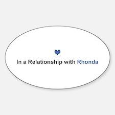 Rhonda Relationship Oval Decal