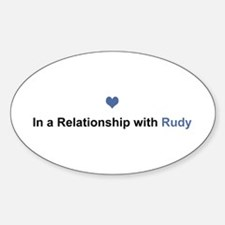 Rudy Relationship Oval Decal