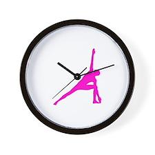 Bikram Yoga Triangle Pose Wall Clock