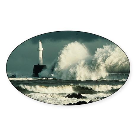 Storm waves - Sticker (Oval 50 pk)