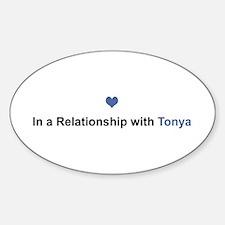 Tonya Relationship Oval Decal