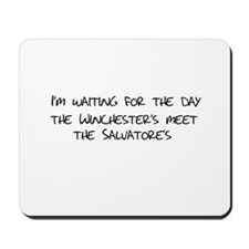 Winchesters meet the Salvatores Mousepad