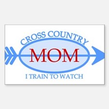 Cross Country Mom Train to Watch Decal