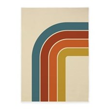 Retro Curve 5'x7'Area Rug