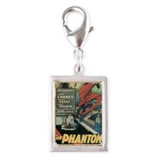 the phantom of the opera Silver Portrait Charm