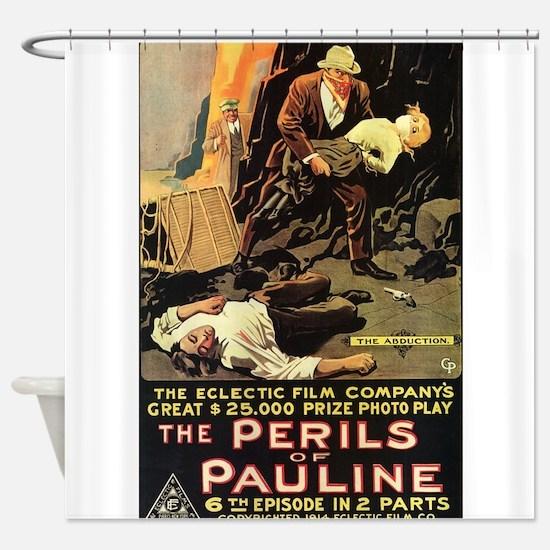 perils of pauline Shower Curtain