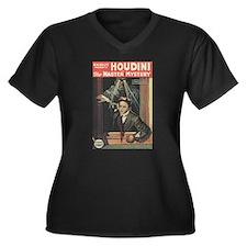 houdini Women's Plus Size V-Neck Dark T-Shirt
