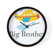Big Brother Yellow Airplane Wall Clock