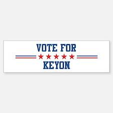Vote for KEYON Bumper Bumper Bumper Sticker