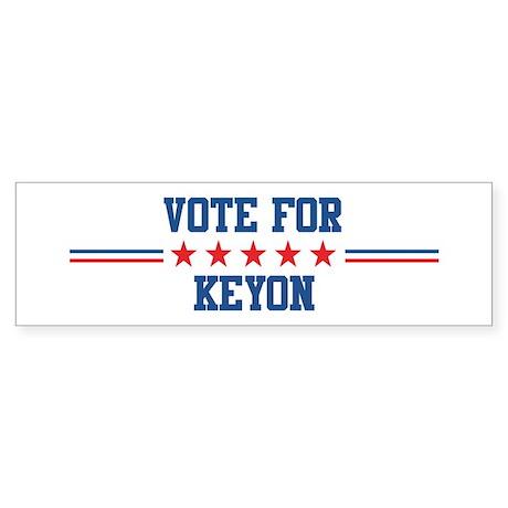 Vote for KEYON Bumper Sticker