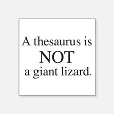 Thesaurus Rectangle Sticker
