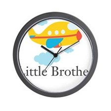 Little Brother Yellow Airplane Wall Clock