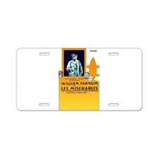 les miserables Aluminum License Plate