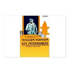 les miserables Postcards (Package of 8)