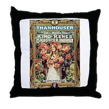 king renee;s daughter Throw Pillow
