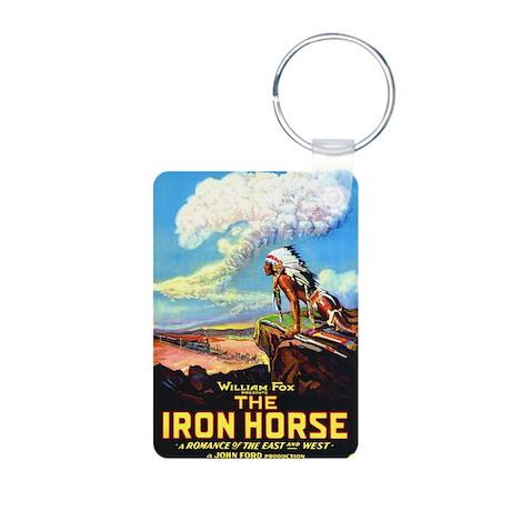 the iron horse Aluminum Photo Keychain