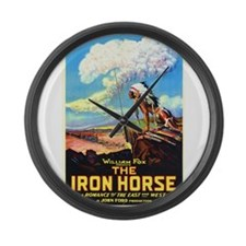the iron horse Large Wall Clock
