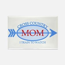 Cross Country Mom Train to Watch Rectangle Magnet
