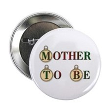 Christmas Mother To Be Button