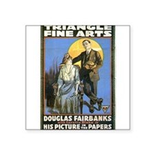 "douglas fairbanks Square Sticker 3"" x 3"""