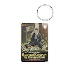 buster keaton Aluminum Photo Keychain