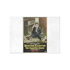 buster keaton 5'x7'Area Rug