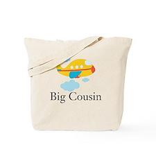 Big Cousin Yellow Airplane Tote Bag
