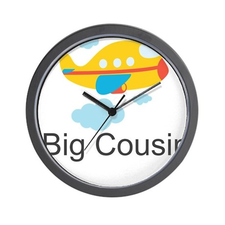 Big Cousin Yellow Airplane Wall Clock