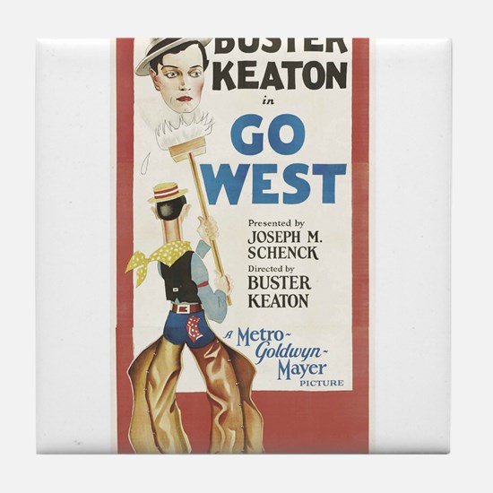 buster keaton Tile Coaster