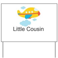 Little Cousin Yellow Airplane Yard Sign