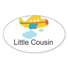 Little Cousin Yellow Airplane Decal