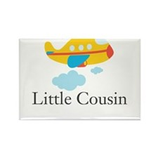 Little Cousin Yellow Airplane Rectangle Magnet
