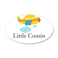Little Cousin Yellow Airplane Wall Decal