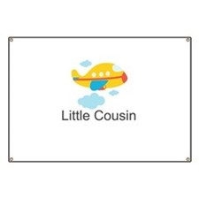 Little Cousin Yellow Airplane Banner