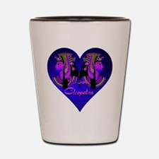 I Love Cleopatra Blue Nile Heart Shot Glass