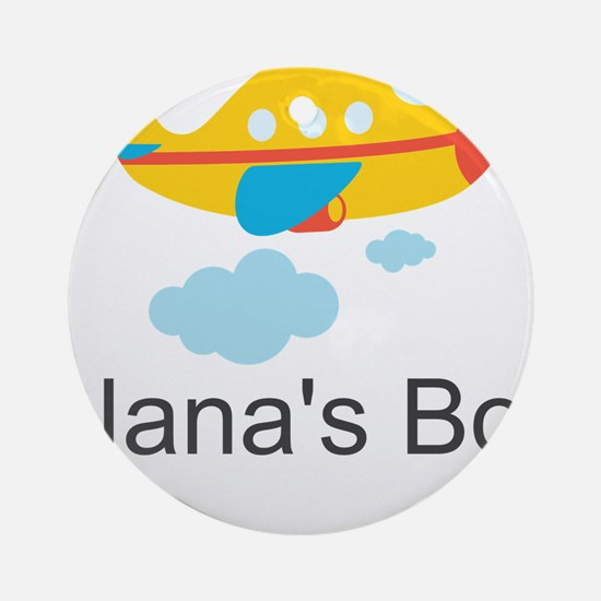 Nanas Boy Yellow Airplane Ornament (Round)