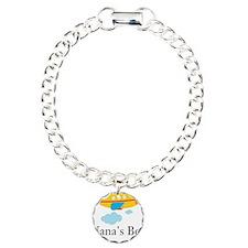 Nanas Boy Yellow Airplane Charm Bracelet, One Char