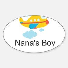 Nanas Boy Yellow Airplane Decal