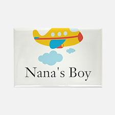 Nanas Boy Yellow Airplane Rectangle Magnet
