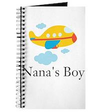 Nanas Boy Yellow Airplane Journal