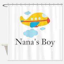 Nanas Boy Yellow Airplane Shower Curtain