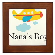Nanas Boy Yellow Airplane Framed Tile
