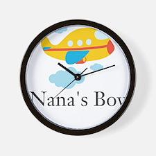 Nanas Boy Yellow Airplane Wall Clock