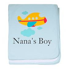 Nanas Boy Yellow Airplane baby blanket