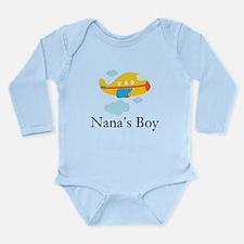 Nanas Boy Yellow Airplane Long Sleeve Infant Bodys