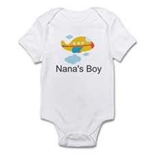Nanas Boy Yellow Airplane Infant Bodysuit