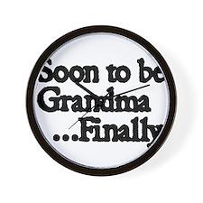 Soon to be Grandma. ..Finally Wall Clock