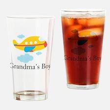 Grandmas Boy Yellow Airplane Drinking Glass