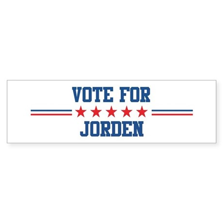 Vote for JORDEN Bumper Sticker