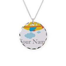 Personalized Yellow Airplane Necklace